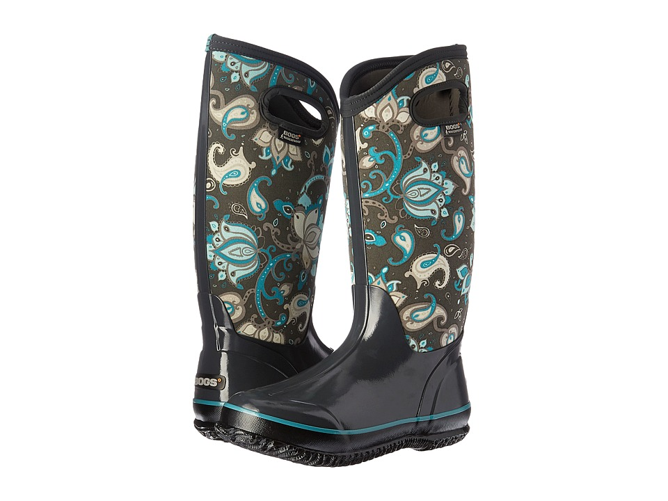 Bogs Classic Paisley Floral Tall (Dark Gray Multi) Women