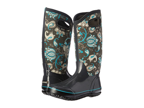 Bogs Classic Paisley Floral Tall - Dark Gray Multi