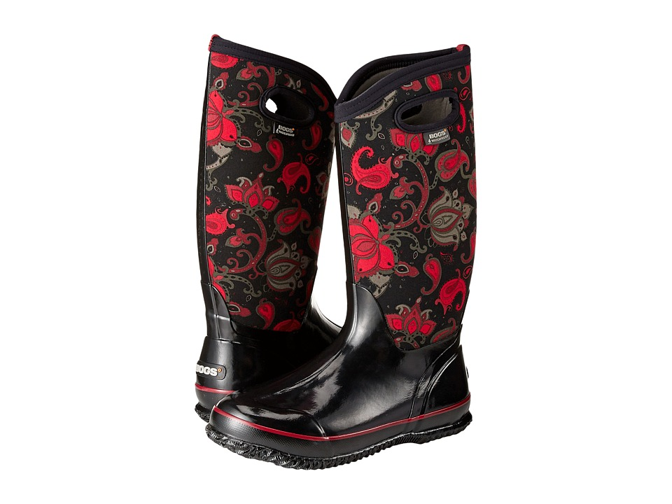 Bogs Classic Paisley Floral Tall (Black Multi) Women