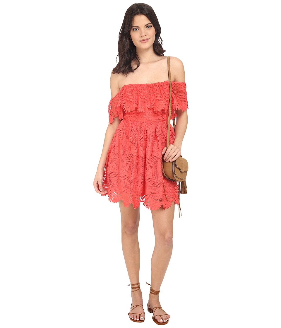 Lovers Friends Dream Vacay Dress Coral Reef Womens Dress