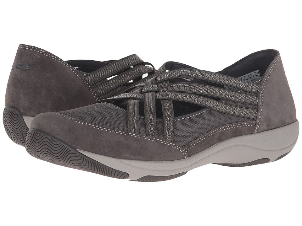 Dansko Hilde Charcoal Suede Womens Shoes