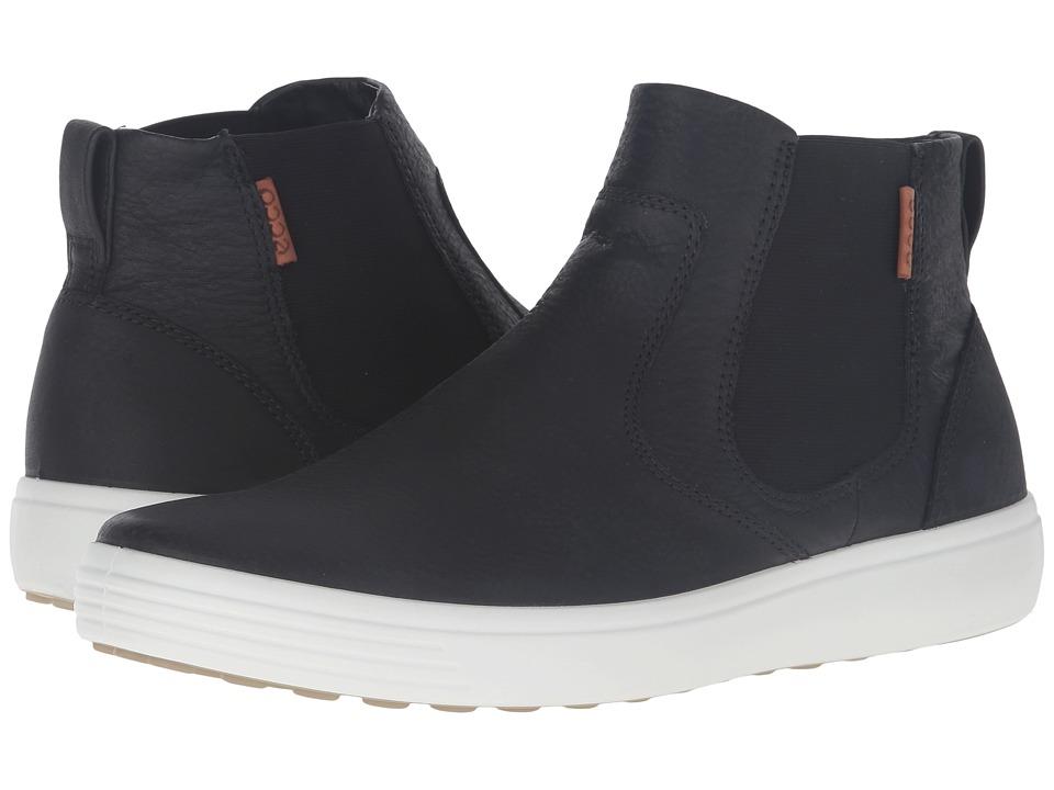 ECCO - Soft 7 Boot (Black/Lion) Men