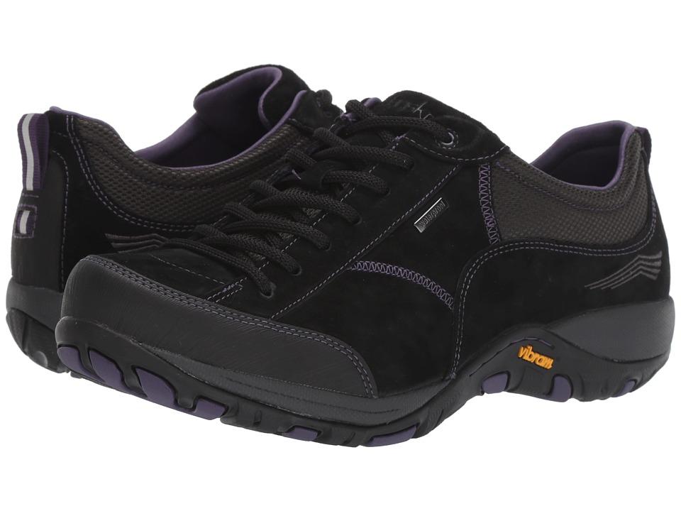 Dansko Paisley (Black Suede) Women's Lace up casual Shoes