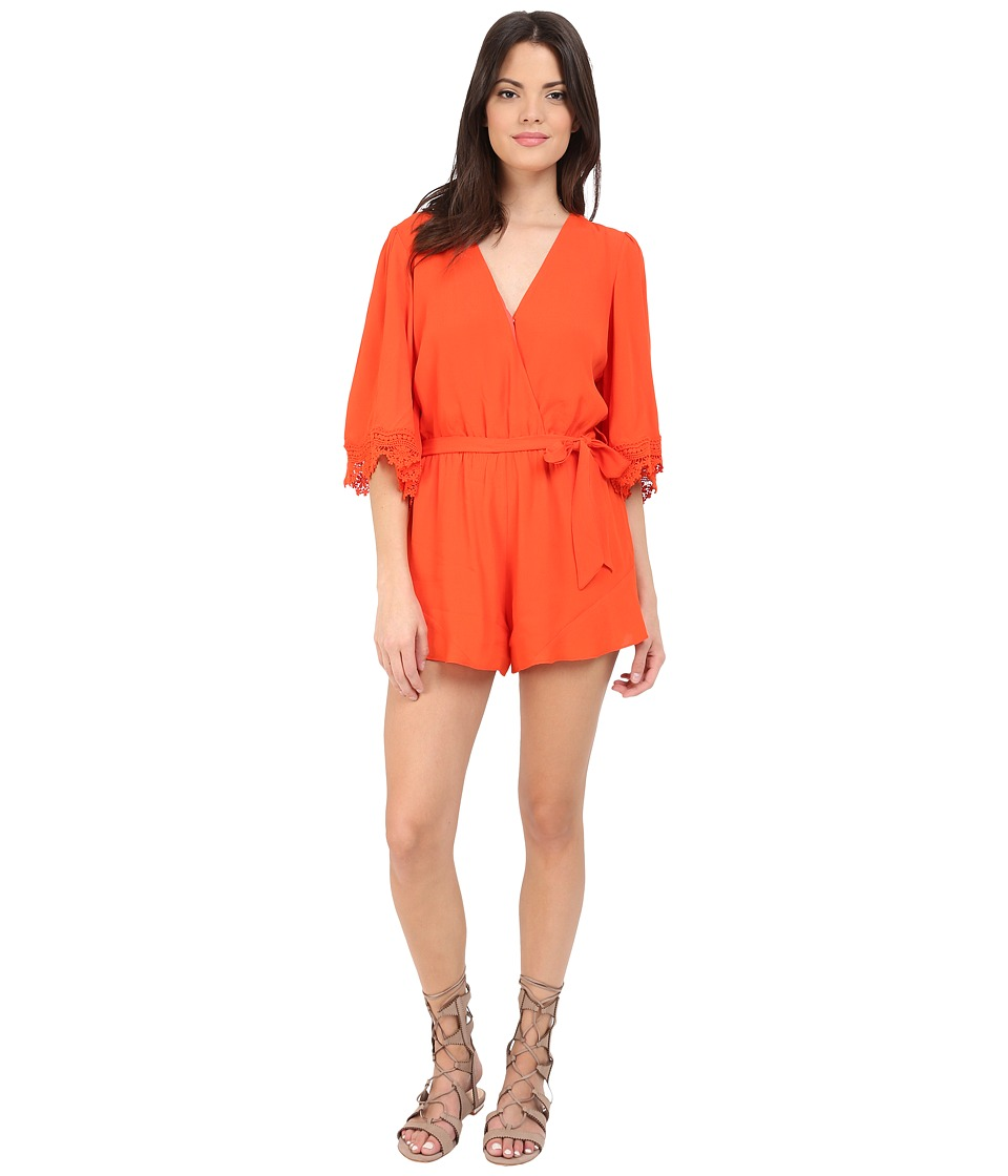 Lovers Friends Reese Romper Coral Reef Womens Jumpsuit Rompers One Piece