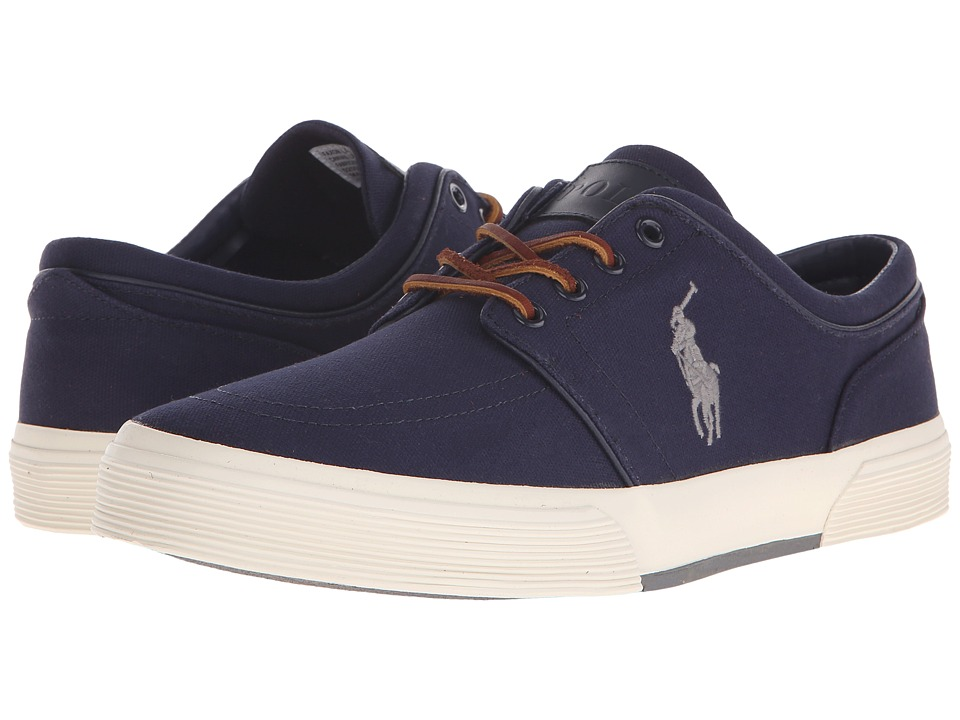 Polo Ralph Lauren Faxon Low (Newport Navy/Basic Grey Canvas) Men's Lace up  casual Shoes
