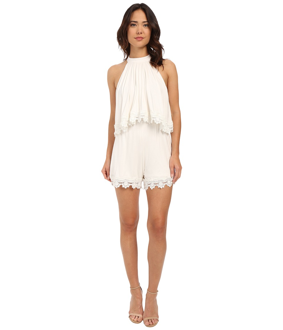 Lovers Friends Nicki Romper Ivory Womens Jumpsuit Rompers One Piece
