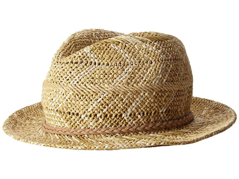 Appaman Kids Cacey Straw Fedora with Briaded Rope Detail Infant/Toddler/Little Kids/Big Kids Natural Fedora Hats
