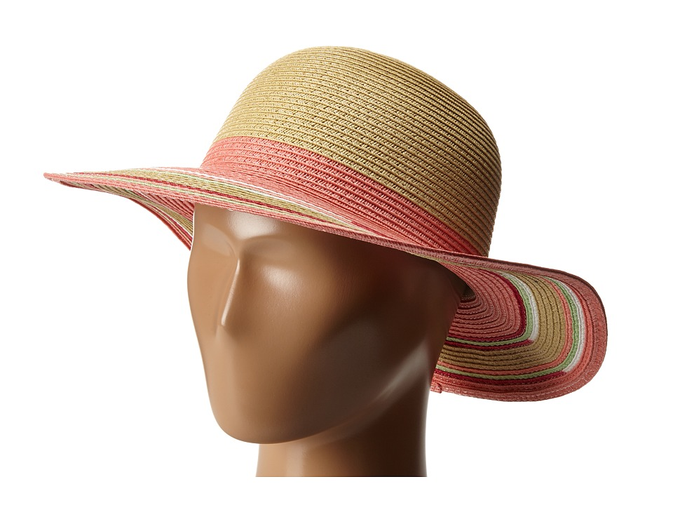 Appaman Kids Aadey Straw Floppy Hat Infant/Toddler/Little Kids/Big Kids Salmon Rose Caps
