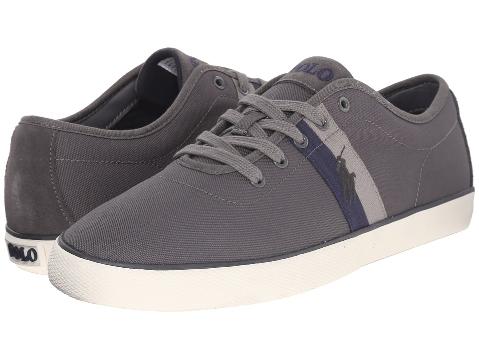 Polo Ralph Lauren Halford Charcoal Grey Matte Codura/Suede Mens Lace up casual Shoes