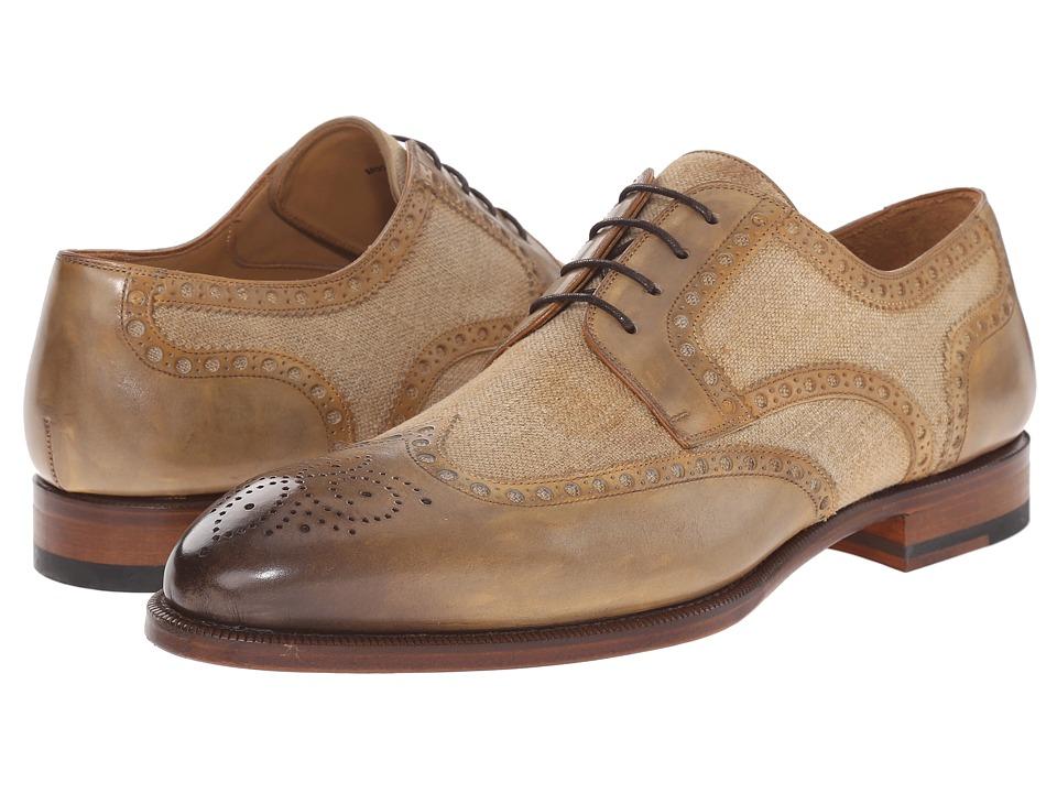 Magnanni Artea Castoro Mens Lace Up Wing Tip Shoes