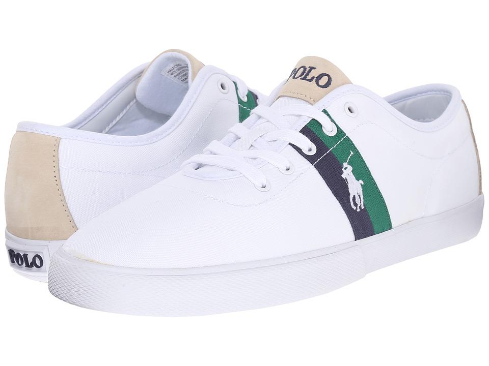 Polo Ralph Lauren - Halford (Pure White Matte Cordura/Sport Suede) Men