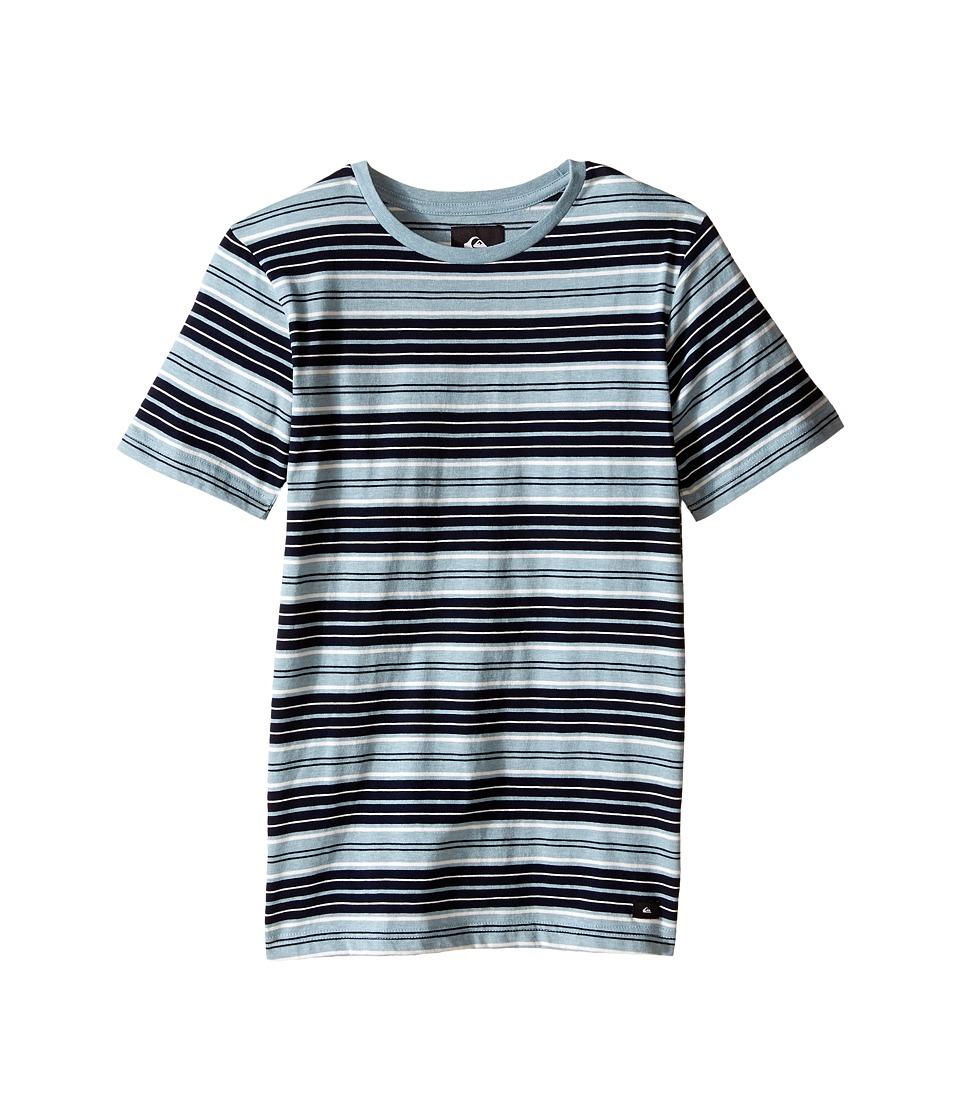 Quiksilver Kids Dry Ice Screen Print Big Kids Tourmaline Heather Boys T Shirt