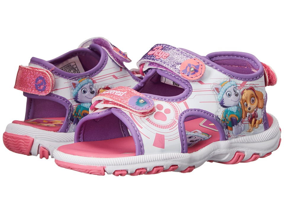 Josmo Kids Paw Patrol Lighted Sandal Toddler/Little Kid Pink/Purple Girls Shoes