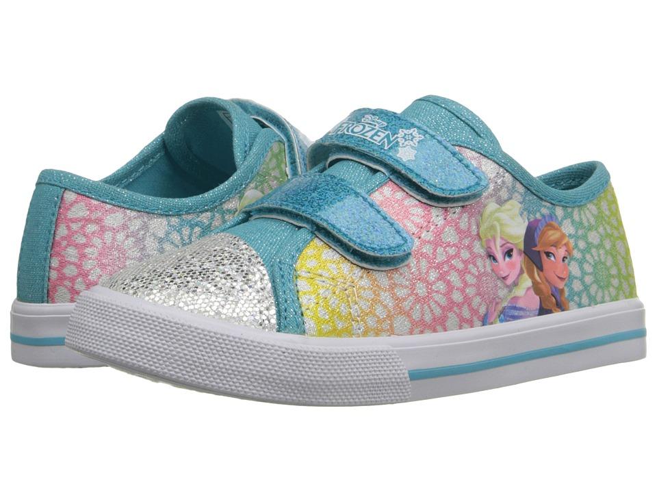 Josmo Kids Frozen Glitter Toe Sneaker Toddler/Little Kid Blue Multi Girls Shoes