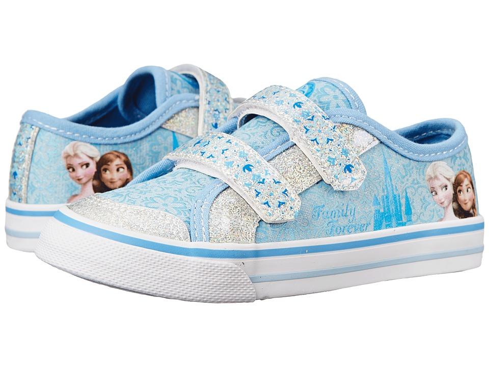 Josmo Kids Frozen Vulcanized Sneaker Toddler/Little Kid Blue Metallic/White Girls Shoes