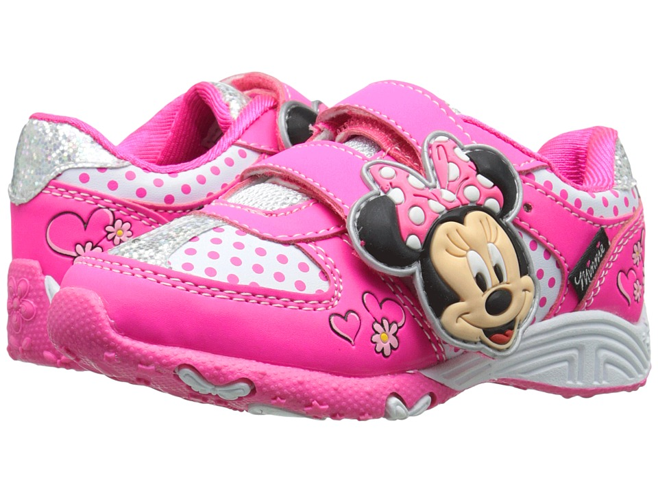 Josmo Kids Minnie Sneaker Toddler/Little Kid Fuchsia/White Girls Shoes