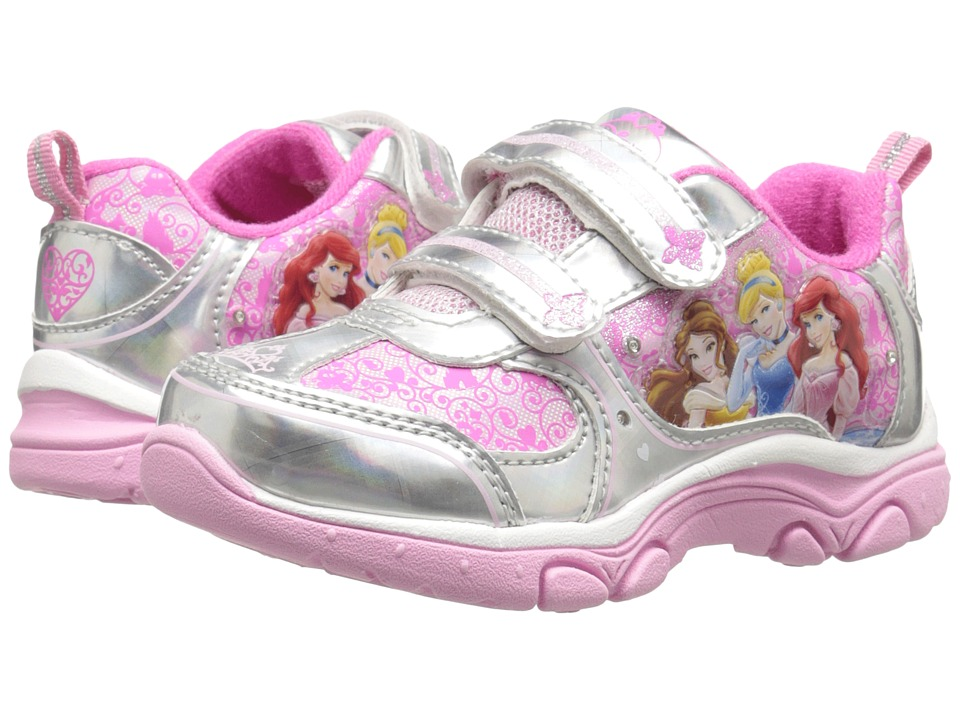 Josmo Kids Princess Sneaker Toddler/Little Kid Pink/Silver Girls Shoes