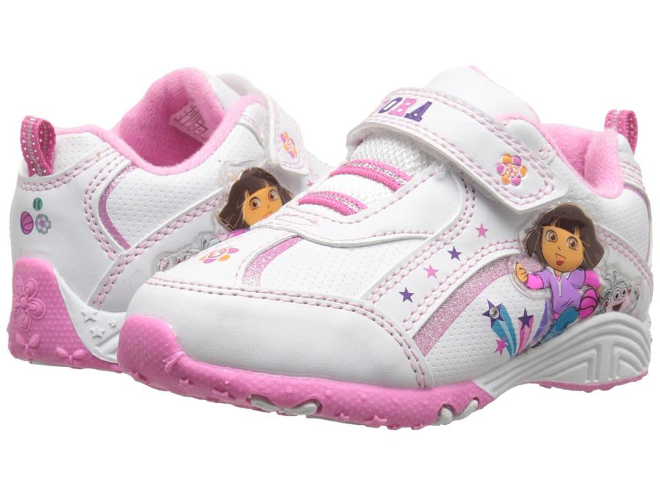 Josmo Kids Dora Lighted Sneaker Toddler/Little Kid White/Pink Girls Shoes