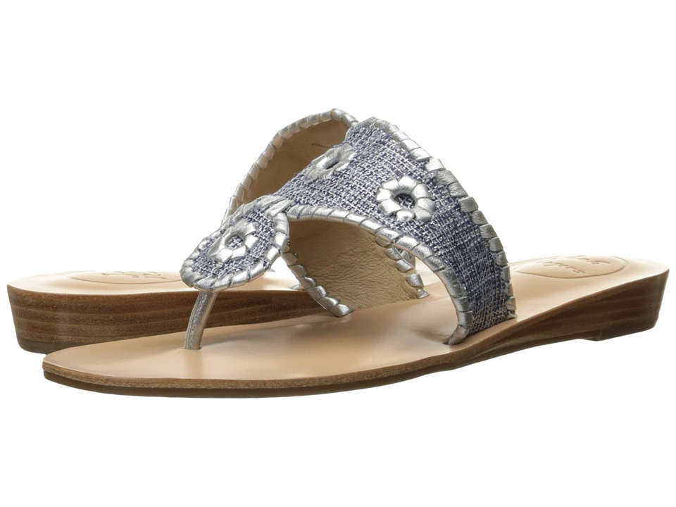 Jack Rogers - Madeline (Midnight Fabric/Silver) Women's Sandals