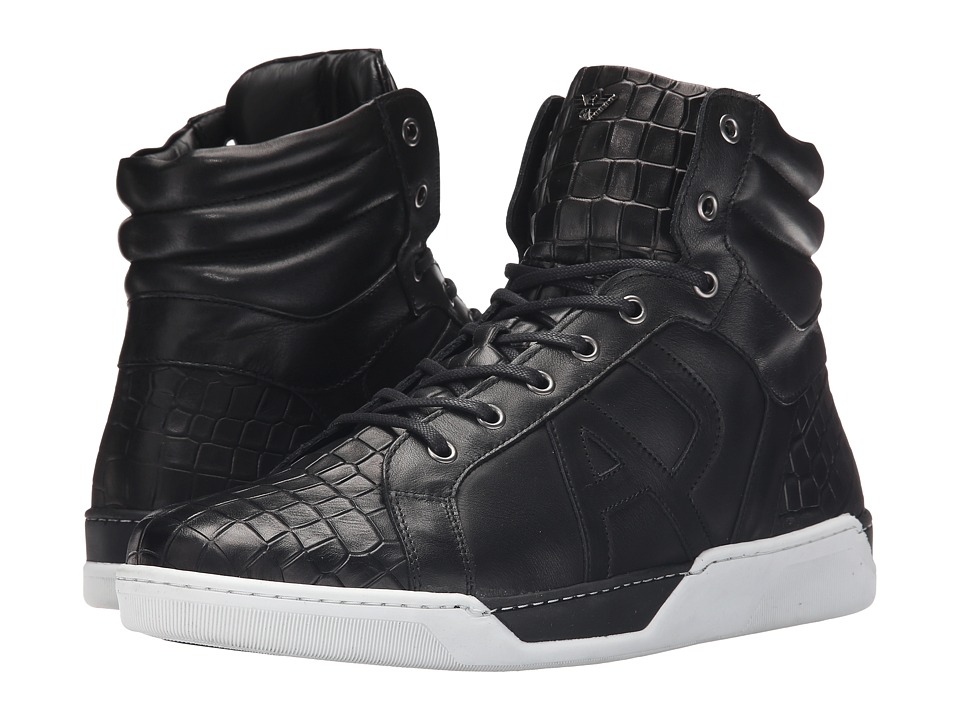 Armani Jeans Sneaker Black Mens Lace up casual Shoes