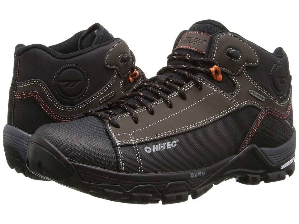 Hi-Tec - Trail OX Chukka I Waterproof (Chocolate/Black/Burnt Orange) Mens Shoes