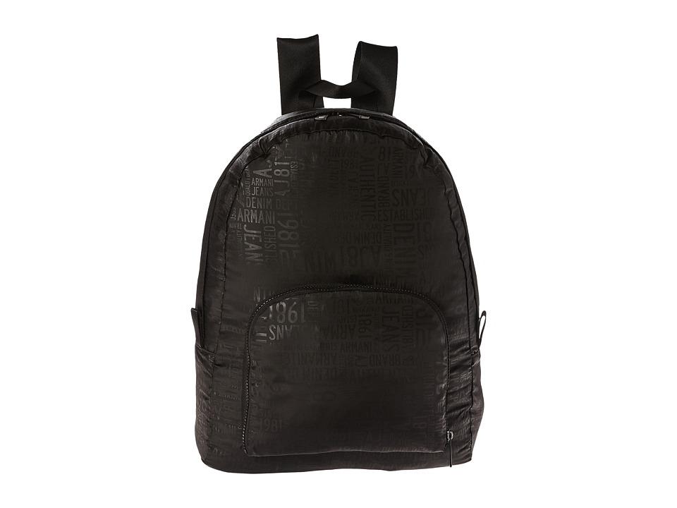 Armani Jeans - Printed Zaino (Black) Backpack Bags
