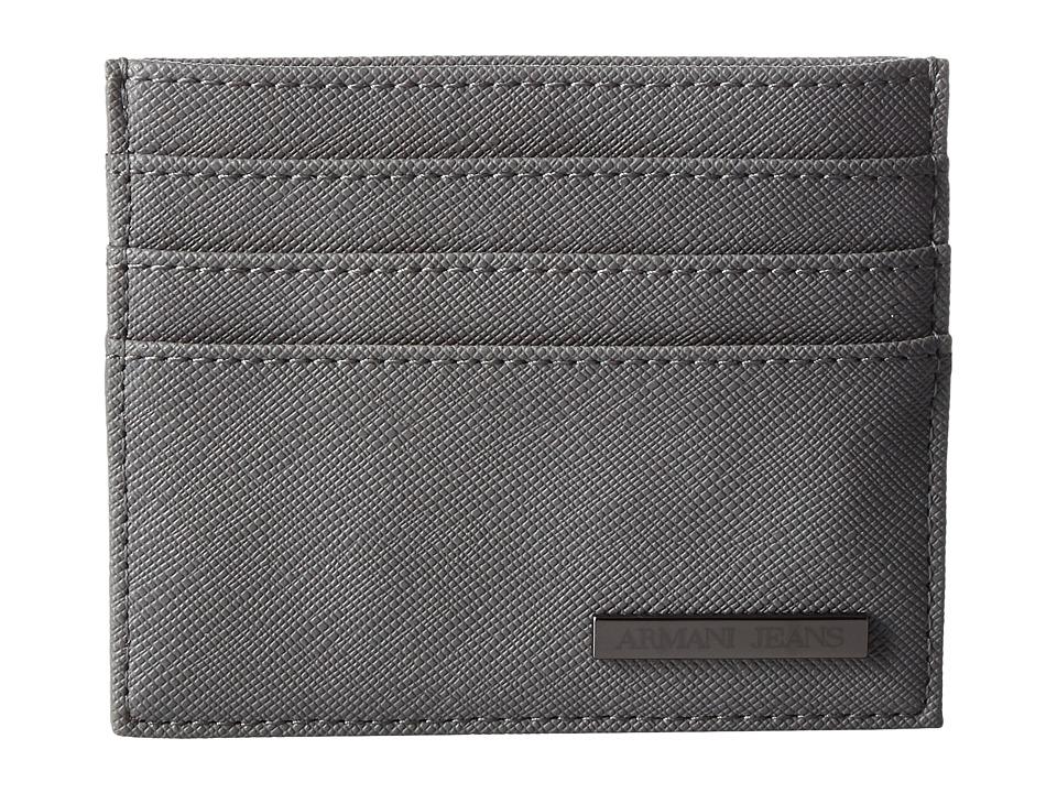 Armani Jeans Eco Saffiano Porta Carte Grey Bags