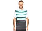 Nike Golf Mobility Fade Stripe Polo (Rio Teal/White/Flat Silver)
