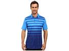 Nike Golf Mobility Fade Stripe Polo (Light Photo Blue/Light Photo Blue/Flat Silver)