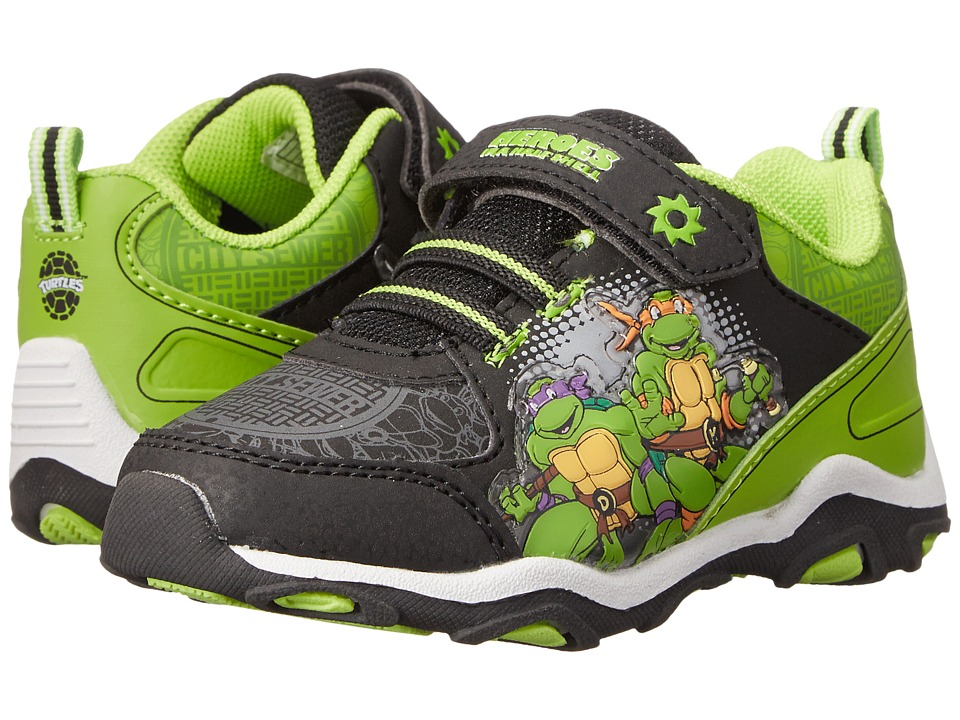 Josmo Kids Ninja Turtle Sneaker Toddler/Little Kid Black/Green Boys Shoes