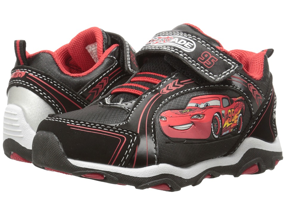 Josmo Kids Cars Bungee Sneaker Toddler/Little Kid Black/Red Boys Shoes