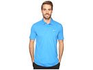 Nike Golf Mobility Emboss Polo (Light Photo Blue/Flat Silver)