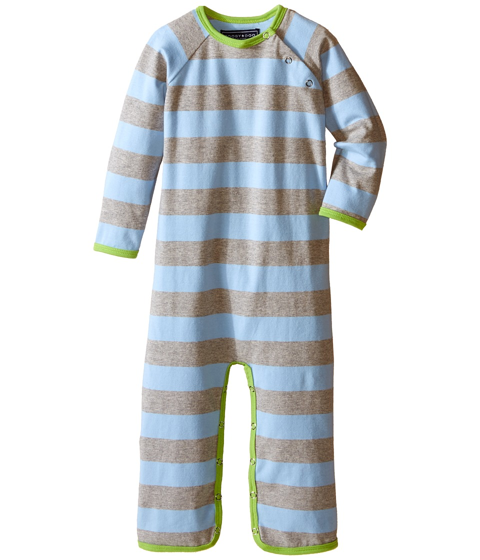 Toobydoo Green/Blue/Grey Long Sleeve Jumpsuit Infant Grey/Blue/Green Boys Jumpsuit Rompers One Piece