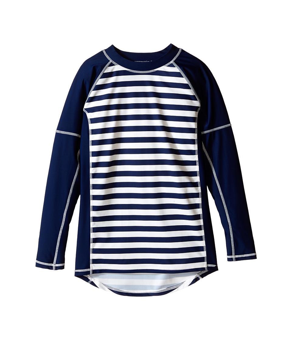 Toobydoo Navy/White Stripe Long Sleeve Rashguard Infant/Toddler/Little Kids/Big Kids Navy/White Boys Swimwear