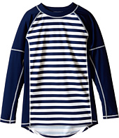 Toobydoo - Navy/White Stripe Long Sleeve Rashguard (Infant/Toddler/Little Kids/Big Kids)