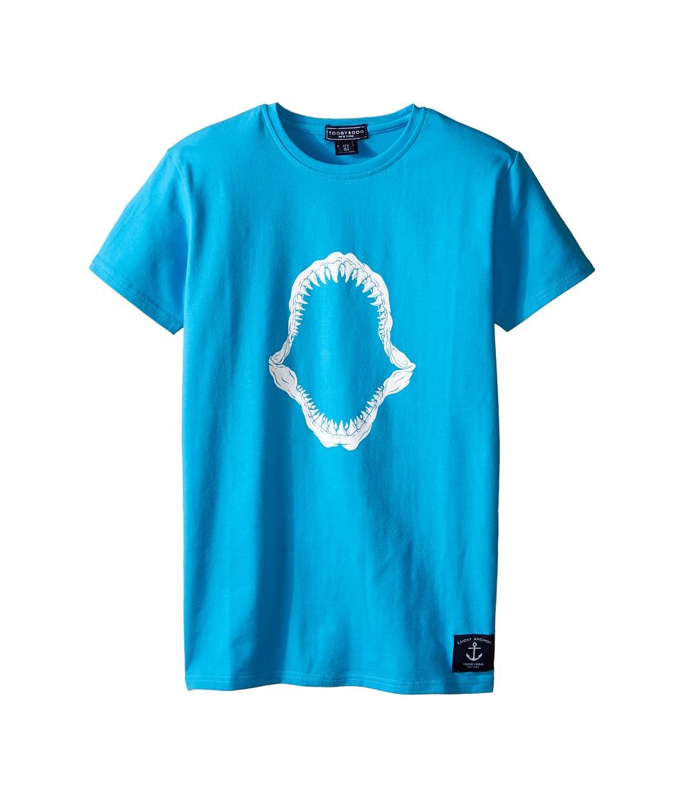 Toobydoo Short Sleeve Graphic T Shirt Infant/Toddler/Little Kids/Big Kids Aqua/Shark Mouth Graphic Boys T Shirt