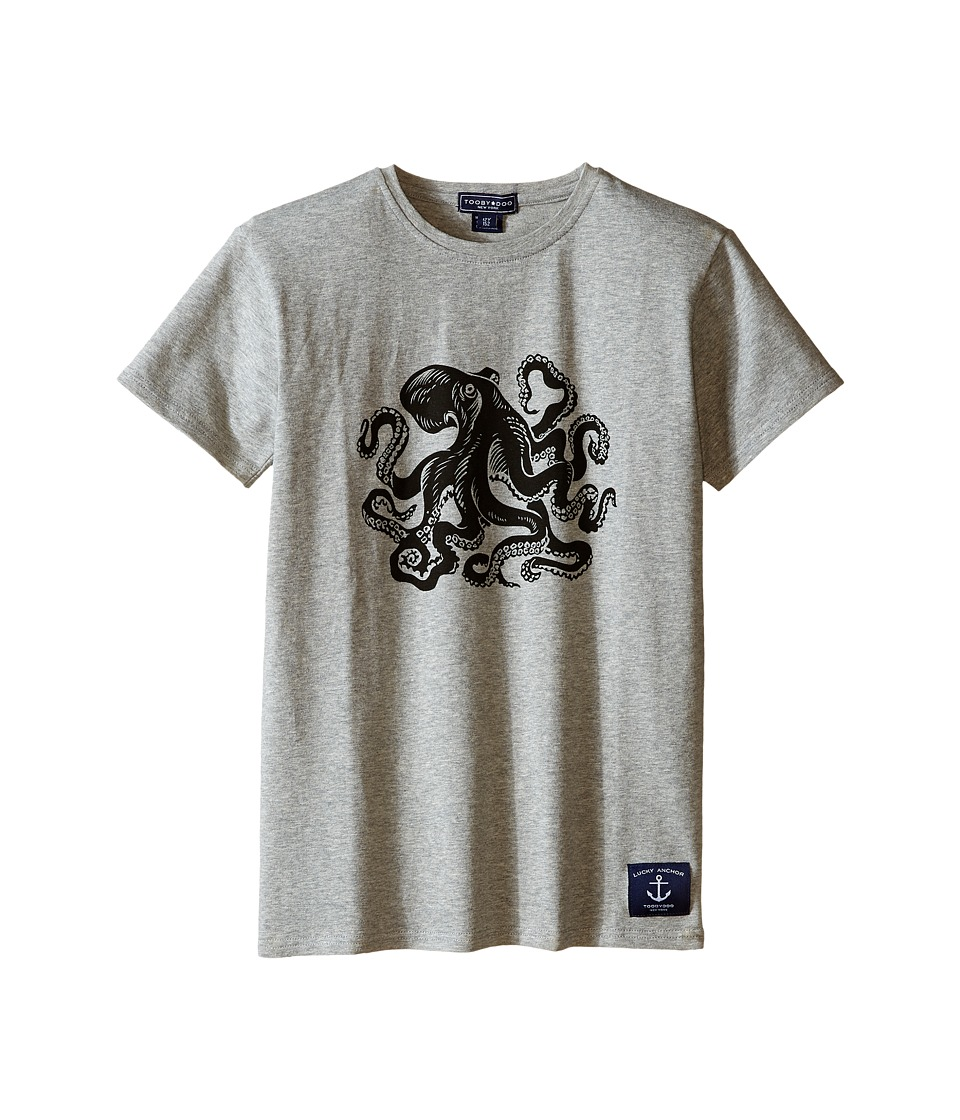 Toobydoo Short Sleeve Graphic T Shirt Infant/Toddler/Little Kids/Big Kids Grey/Octopus Graphic Boys T Shirt