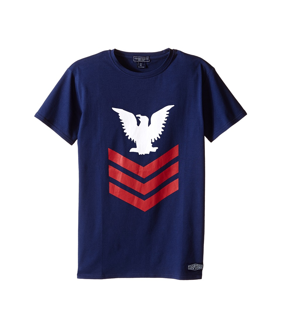 Toobydoo Short Sleeve Graphic T Shirt Infant/Toddler/Little Kids/Big Kids Navy/Red/White Boys T Shirt