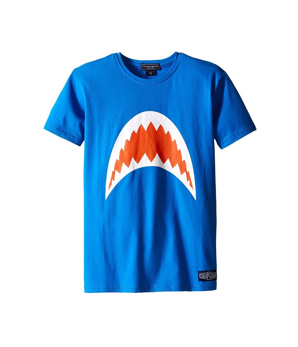 Toobydoo Short Sleeve Graphic T Shirt Infant/Toddler/Little Kids/Big Kids Blue/Shark Mouth Boys T Shirt