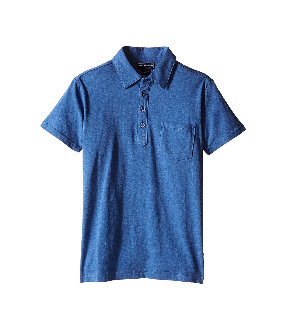 Toobydoo Short Sleeve Polo Toddler/Little Kids/Big Kids Navy Boys Short Sleeve Pullover