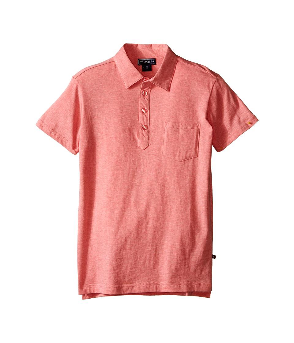 Toobydoo Short Sleeve Polo Infant/Toddler/Little Kids/Big Kids Red Boys Short Sleeve Knit