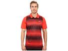 Nike Golf Tiger Woods Vl Max Sphere Stripe Polo (Light Crimson/Black/Reflective Silver)