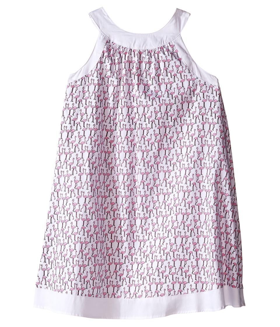 Toobydoo Piazza Tank Dress Toddler/Little Kids/Big Kids Pink Flamingo/White Girls Dress