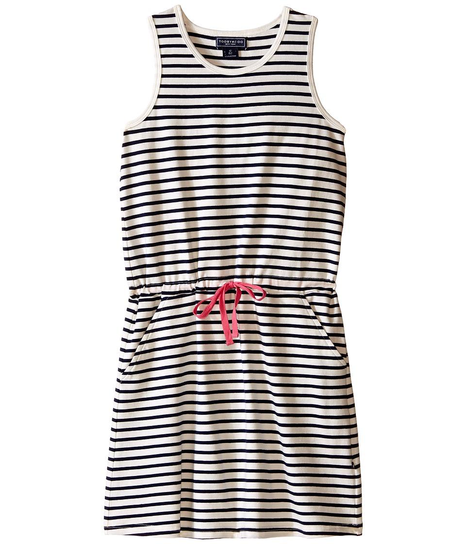 Toobydoo Tank Beach Dress Toddler/Little Kids/Big Kids Navy/White/Pink Girls Dress