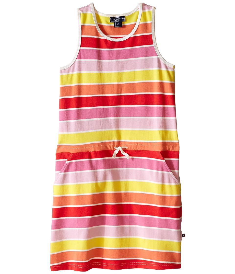Toobydoo Tank Beach Dress Toddler/Little Kids/Big Kids Yellow/Orange/Red/Pink Girls Dress