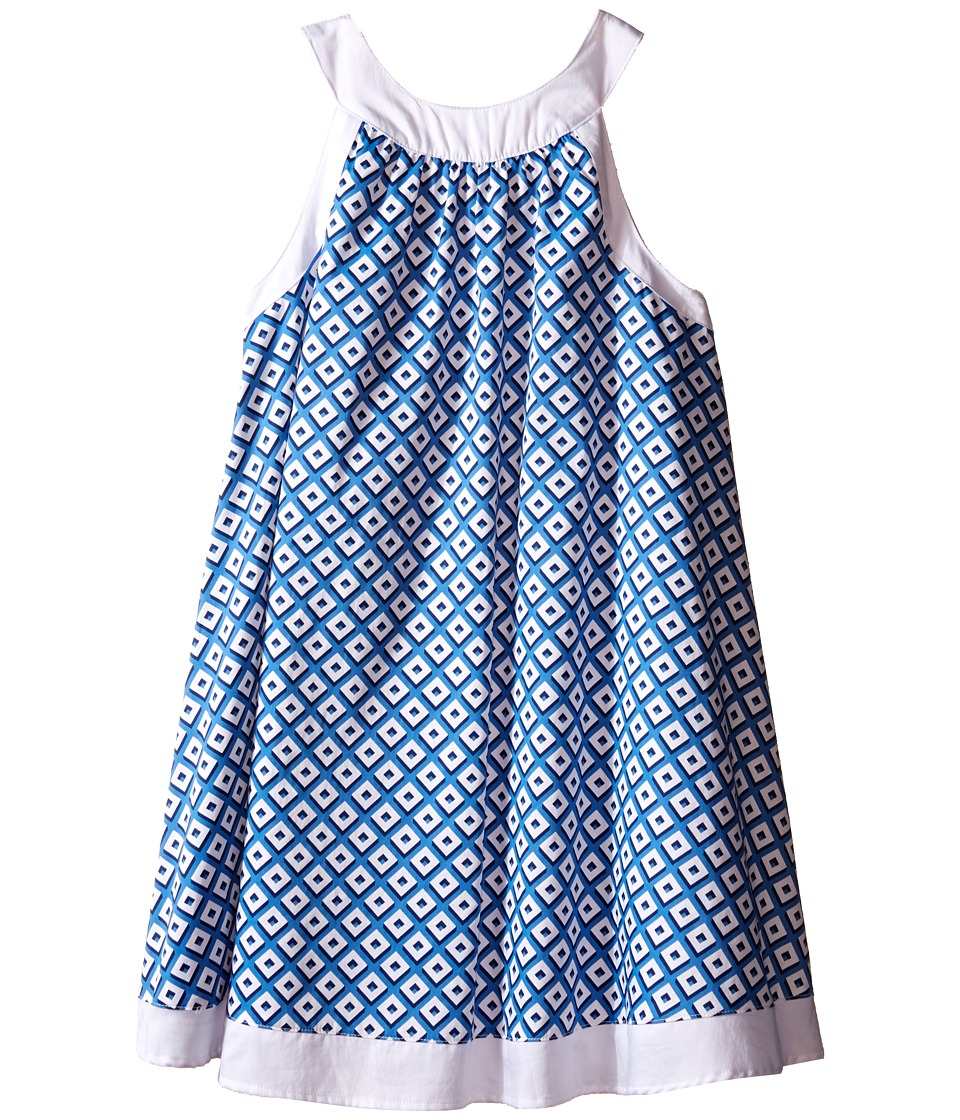 Toobydoo Piazza Tank Dress Toddler/Little Kids/Big Kids Blue/White Girls Dress