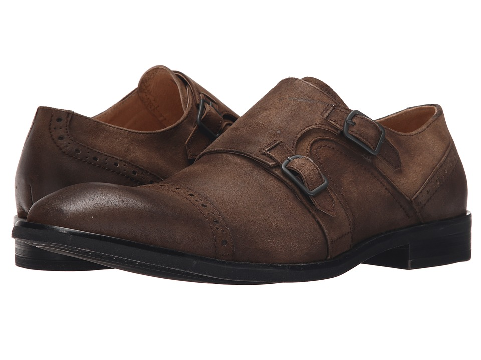 Kenneth Cole New York Beat The System Tobacco Mens Monkstrap Shoes