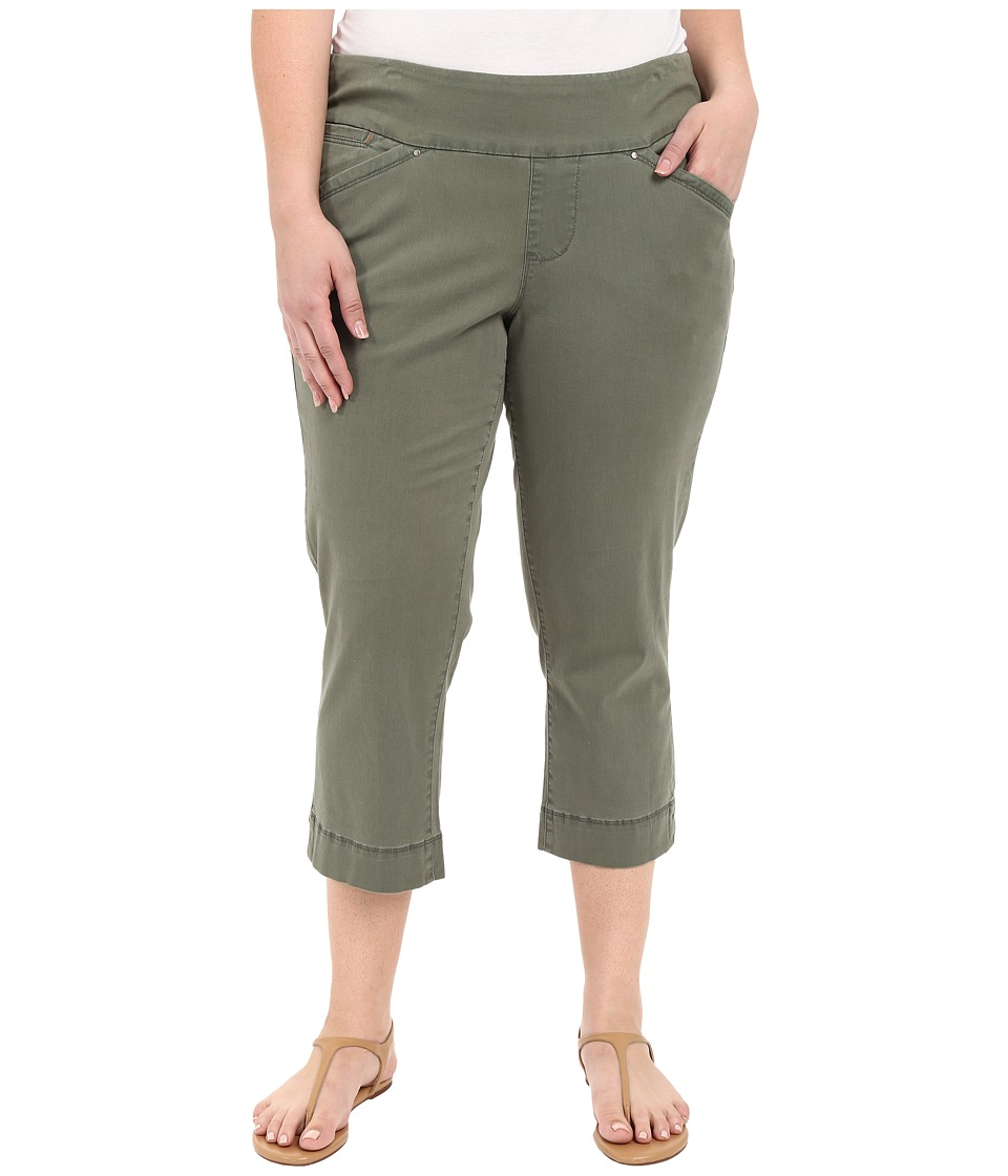 Jag Jeans Plus Size Plus Size Marion Crop in Bay Twill Jungle Palm Womens Casual Pants
