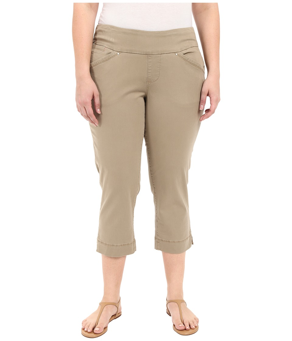 Jag Jeans Plus Size Plus Size Marion Crop in Bay Twill Hazelnut Womens Casual Pants