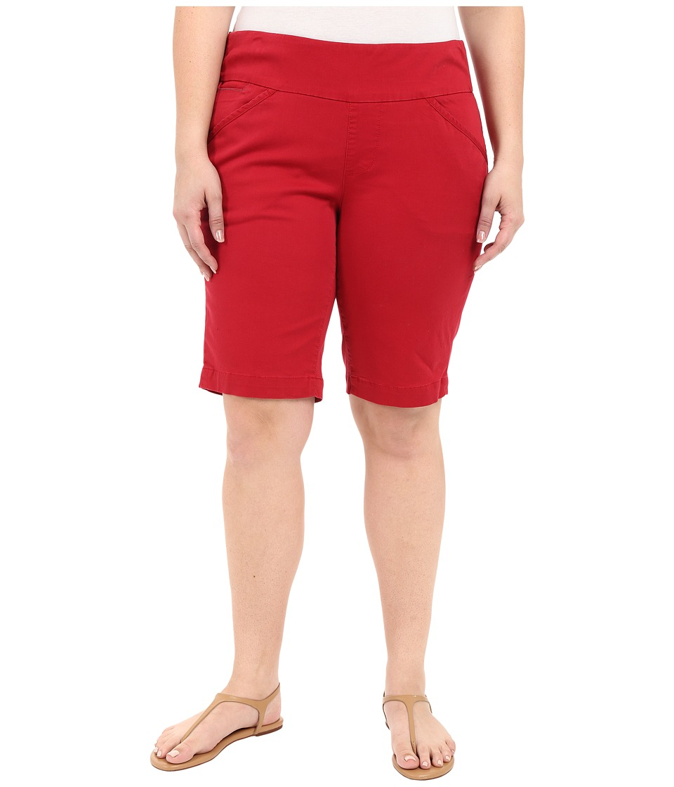 Jag Jeans Plus Size Plus Size Ainsley Classic Fit Bermuda in Bay Twill Dark Poppy Womens Shorts
